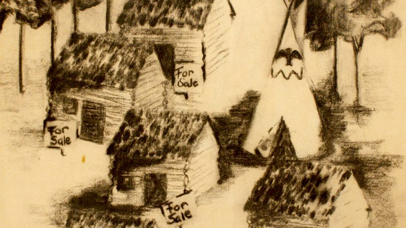 Changing Neighborhoods, 1960–1975 by Marty. Charcoal on paper. PJ2008.0254
