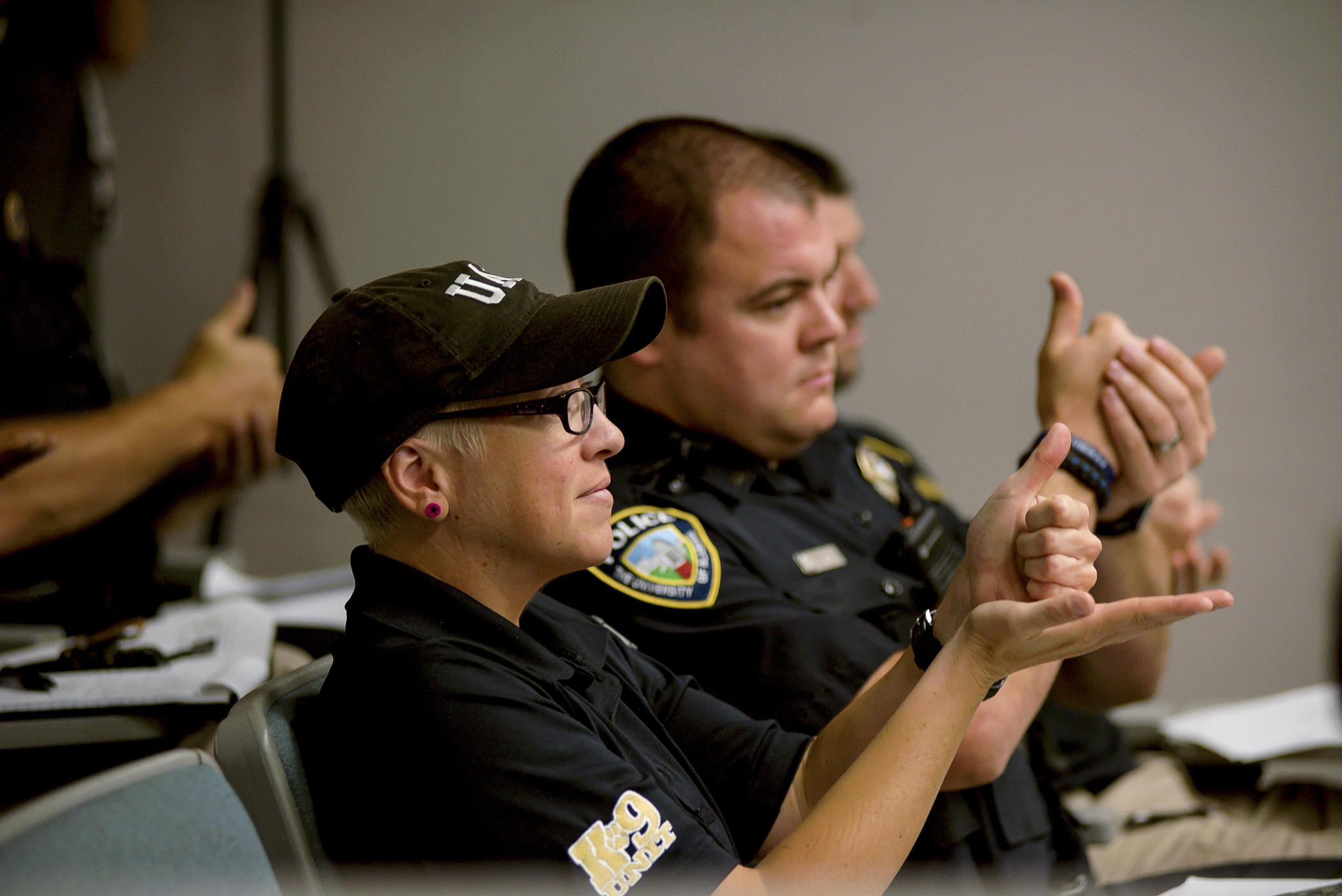 Students, teachers join law enforcement for International