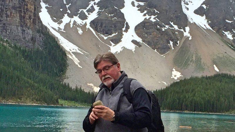 Dr. Nick Tew at Moraine Lake
