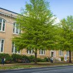 An exterior photo of B.B. Comer Hall