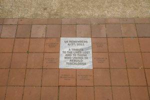 A photo of the brick pavers.