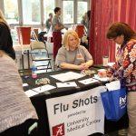 UA employee signing up for a flu shot