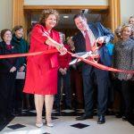 Gorgas Library administrators cut ribbon