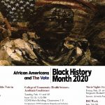 A calendar of events for UA's Black History Month 2020