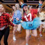 UA students and a Miracle Kid dance during BAMAthon.