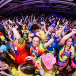large group of students at dance marathon