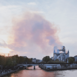 Smoke rising from Notre Dame Cathedral