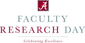 "A graphic with text that reads ""Faculty Research Day."""