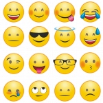 Different emojis in a grid.