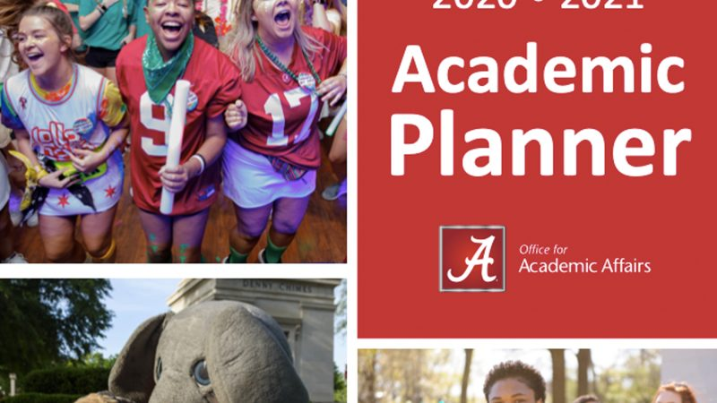 The cover of the 2020-2021 academic planner