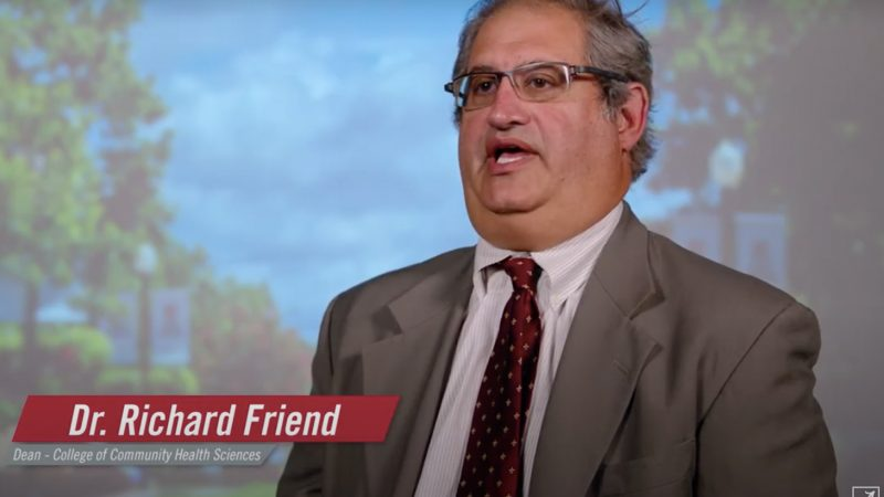 Dr. Richard Friend talking during the COVID Conversations video
