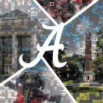 University of Alabama virtual Script A mosaic made of student photos