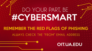 Remember the red flags of phishing hashtag Cybersmart