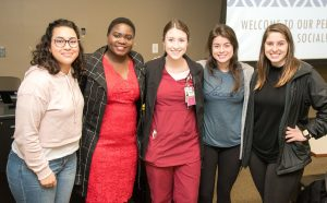 Dr. Mercy Mumba with student mentors and mentees.