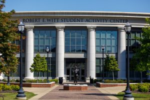 The entrance to the Robert E. Witt Student Activity Center