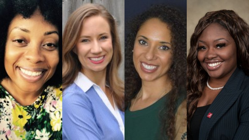 Dr. Latrise Johnson, Hannah Sullivan, Dr. Alexis McGee and Khadeidra Billingsley