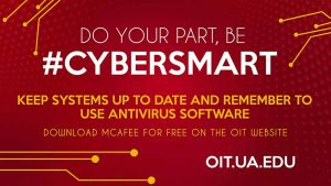 Be Cybersmart. Keep systems up to date. Update software.