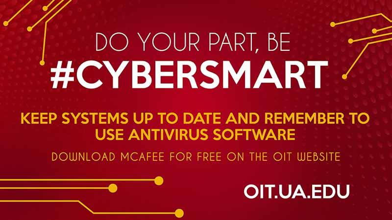 Be Cybersmart. Update software.