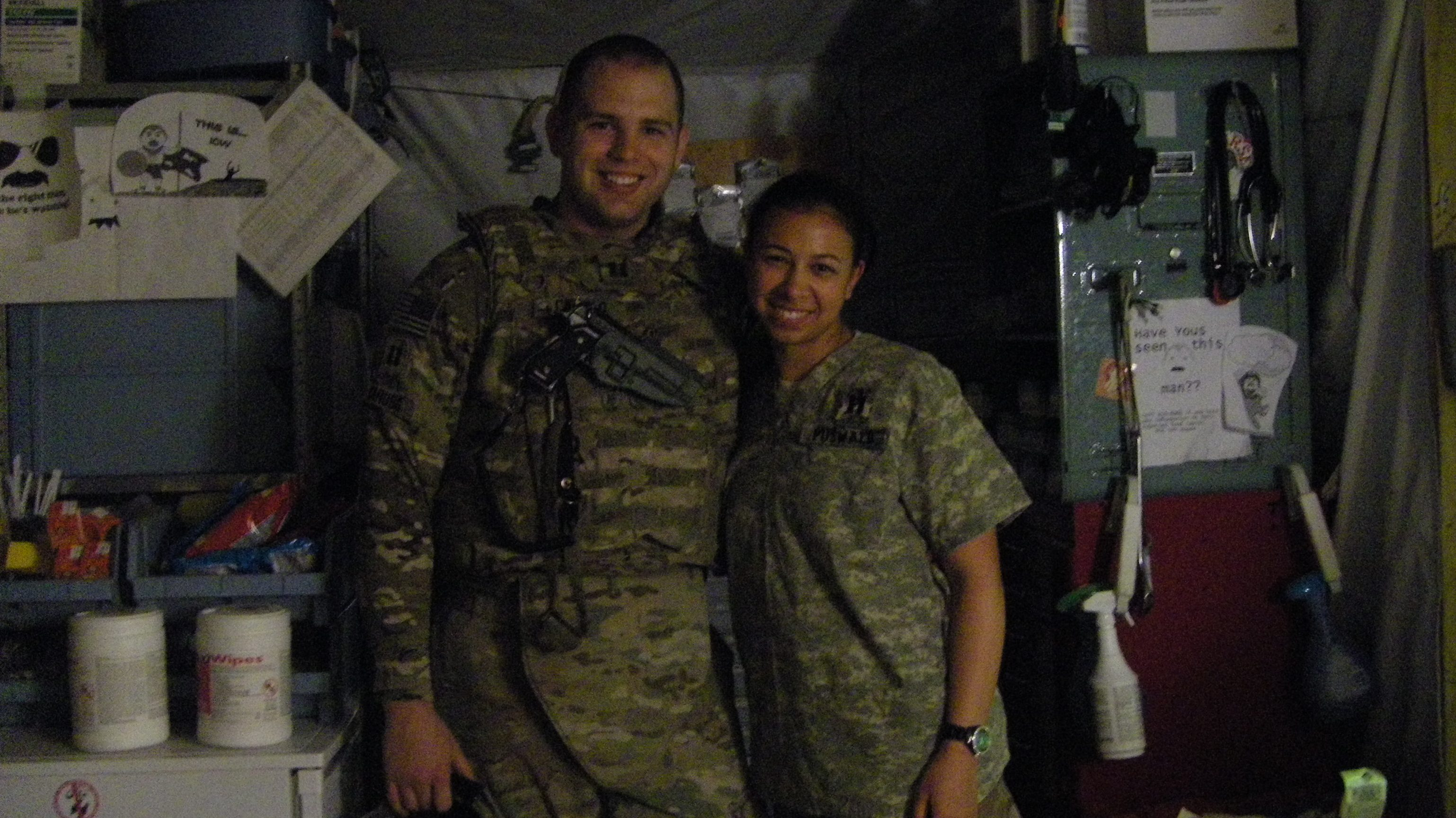 Jacob Caruso and his wife Maria-Cristina deployed in Afghanistan