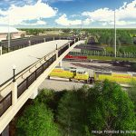A rendering of the Second Avenue Overpass