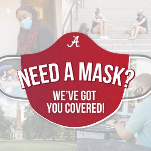 "A graphic of a mask that reads, ""Need a mask? We've got you covered!"""
