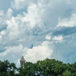 Clouds over Denny Chimes
