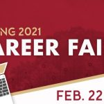The online poster for the Spring Career Fair