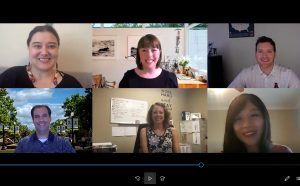 A Zoom videoconference with the 2020 Grant Writing Institute cohort