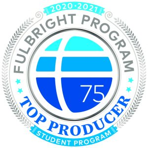 The Top Fulbright Producer logo.
