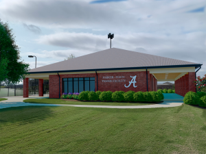 A rendering of the outside of the new tennis facility
