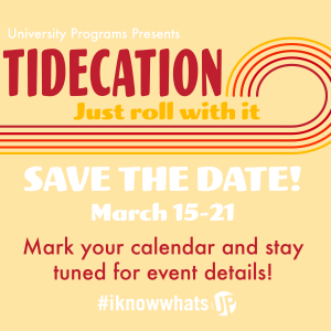 A photo of the Tidecation poster showing the dates.