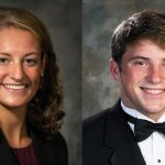 Headshots of Anna Stevenson and Jacob Wall