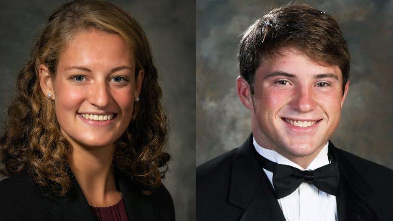 Headshots of Anna Stevenson and Jacob Wall