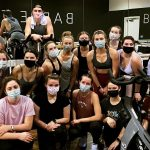 UA students pose for a picture after a fitness class.