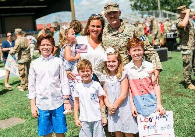 Adam Linn and his family.