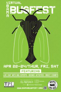 The Bama Bug Fest post that includes the image of a fly and the event dates