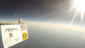 Alabama High Altitude Ballooning Club balloon photo from space