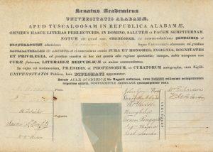 John Smith's diploma from 1834