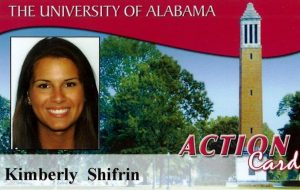 image of the old action card featuring denny chimes on a red background