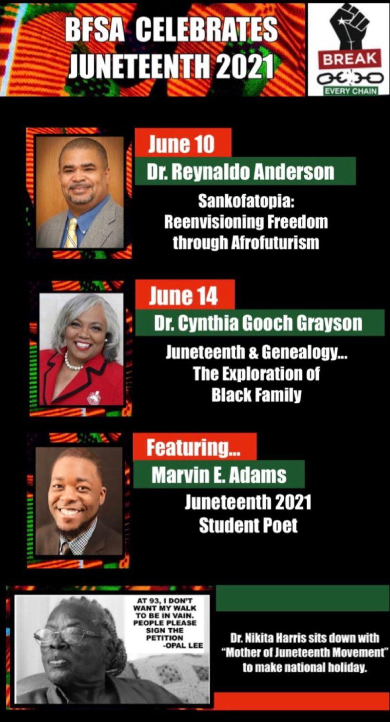BFSA Juneteenth celebration events