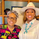 Juneteenth activist Opal Lee and Dr. Nikita Harris, assistant professor of communication and chair of the Juneteenth observation for BFSA.