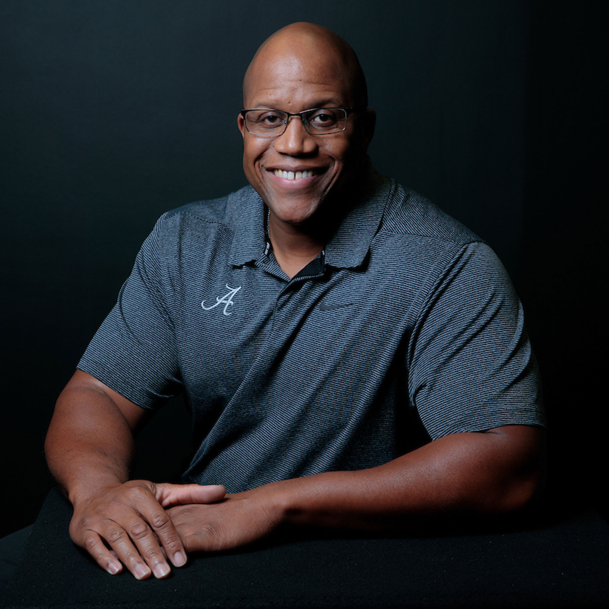 Theo Bruinton, assistant director of athletic facilities at The University of Alabama, poses for the Everyday Champions series.