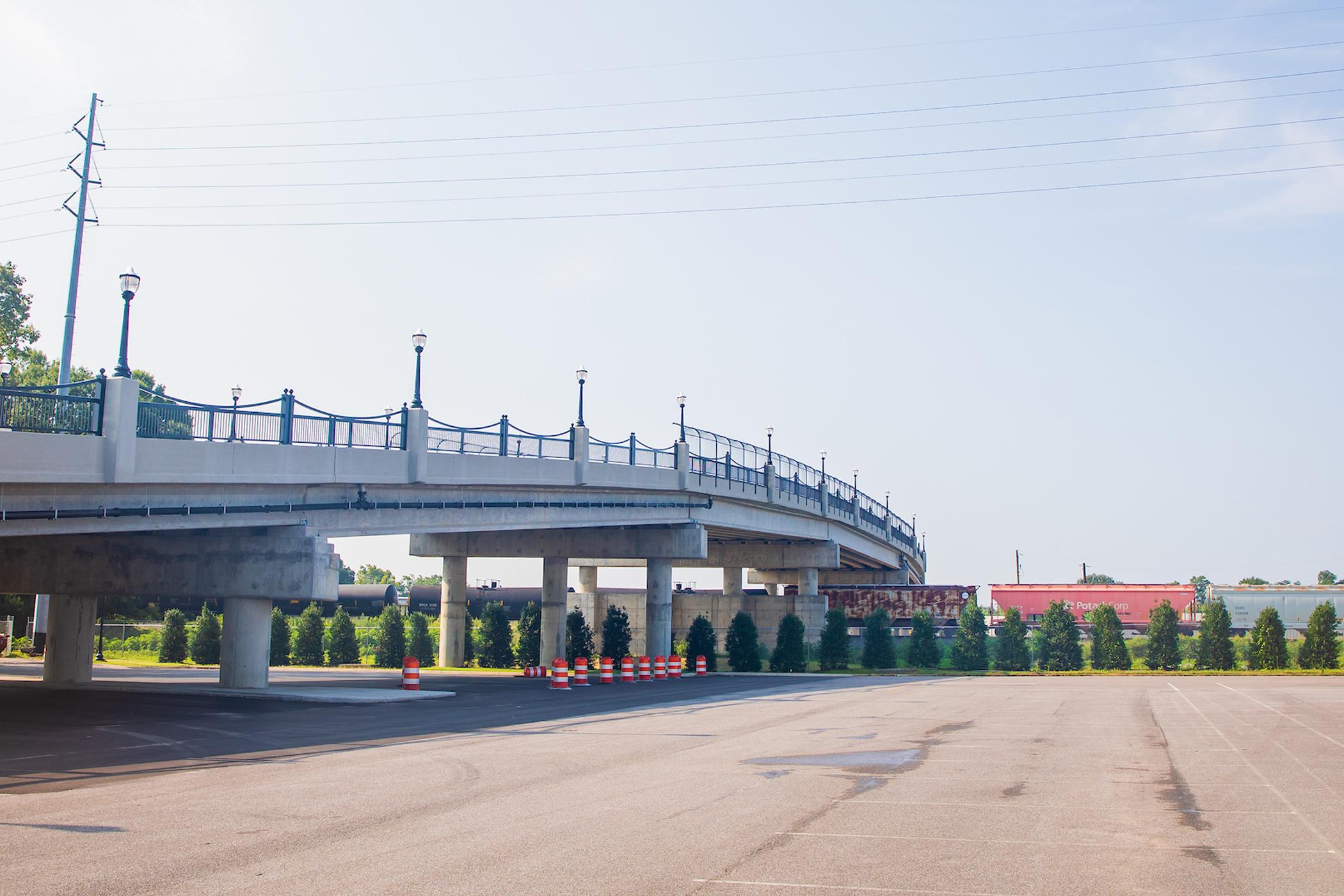 photograph of the second avenue overpass bridge