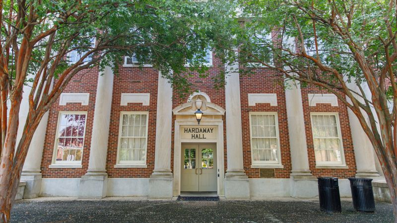 photograph of the exterior of Hardaway Hall
