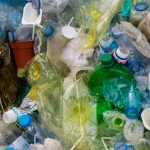 A jumble of plastic waste
