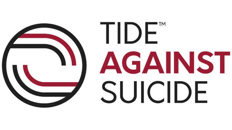 Text reads TIDE AGAINST SUICIDE with a circle logo to the left.