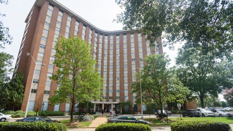 the exterior of Tutwiler Hall